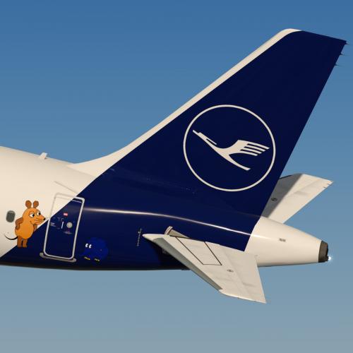 """Lufthansa A321 D-AIRY """"Die Sendung mit der Maus"""""""
