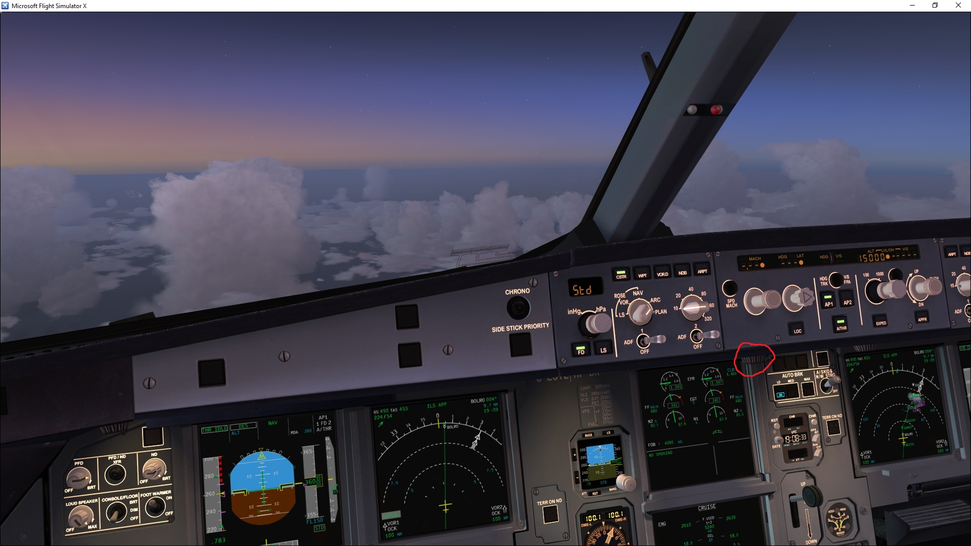 FCU Backlighting - Where's the knob?? - Archive - Flight Sim Labs Forums