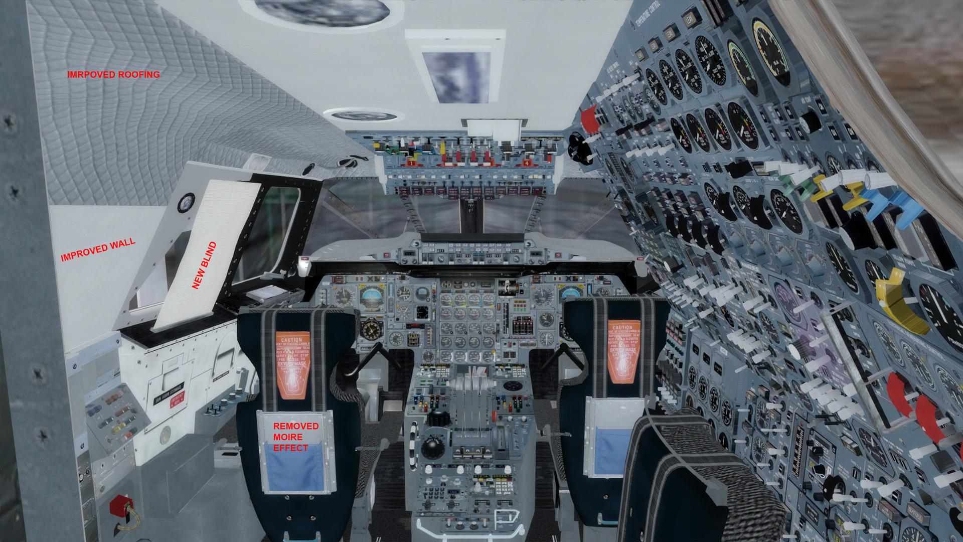 Cockpit Visual Improvement Package for Concorde X - Concorde