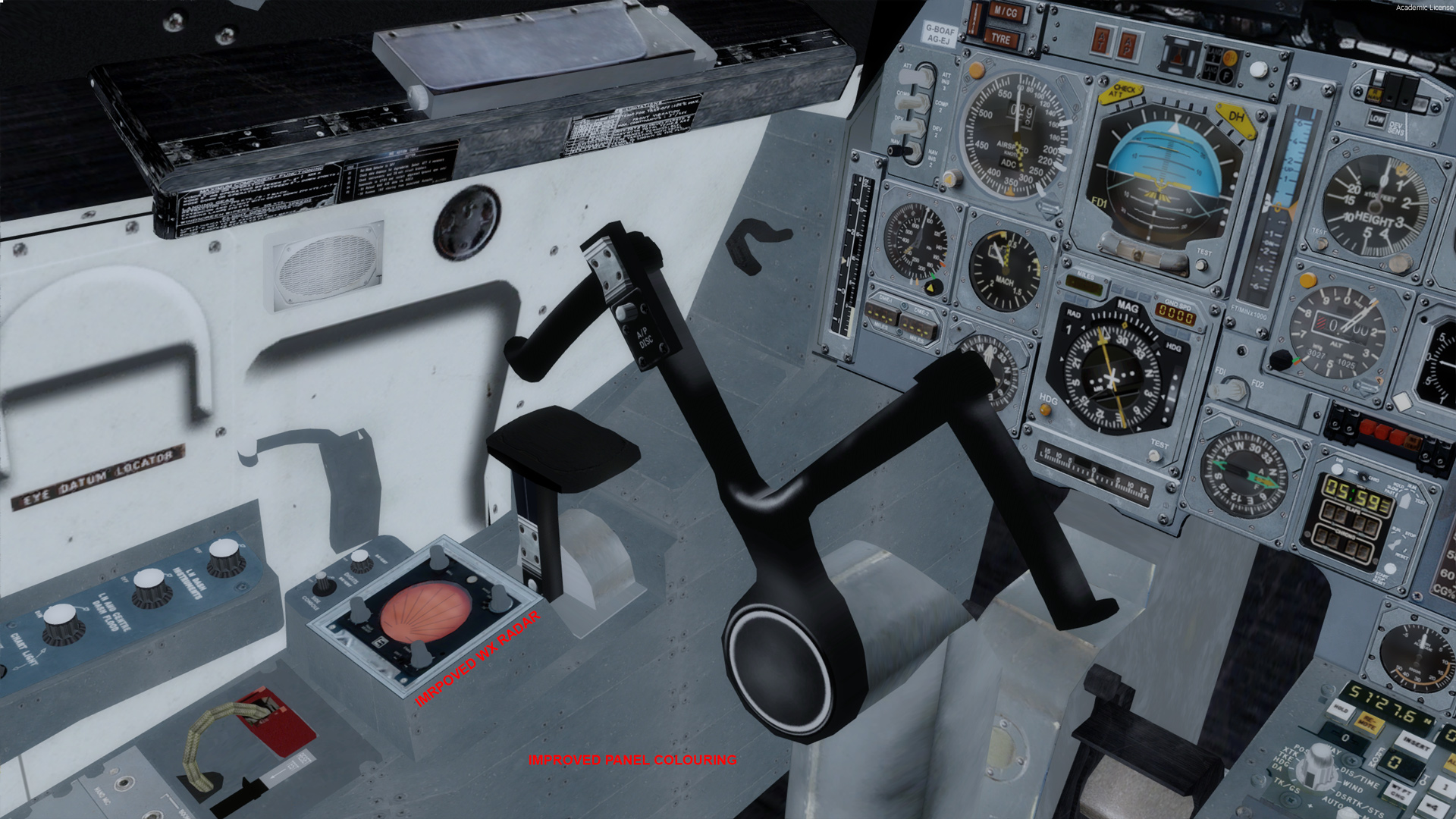 Cockpit Visual Improvement Package For Concorde X