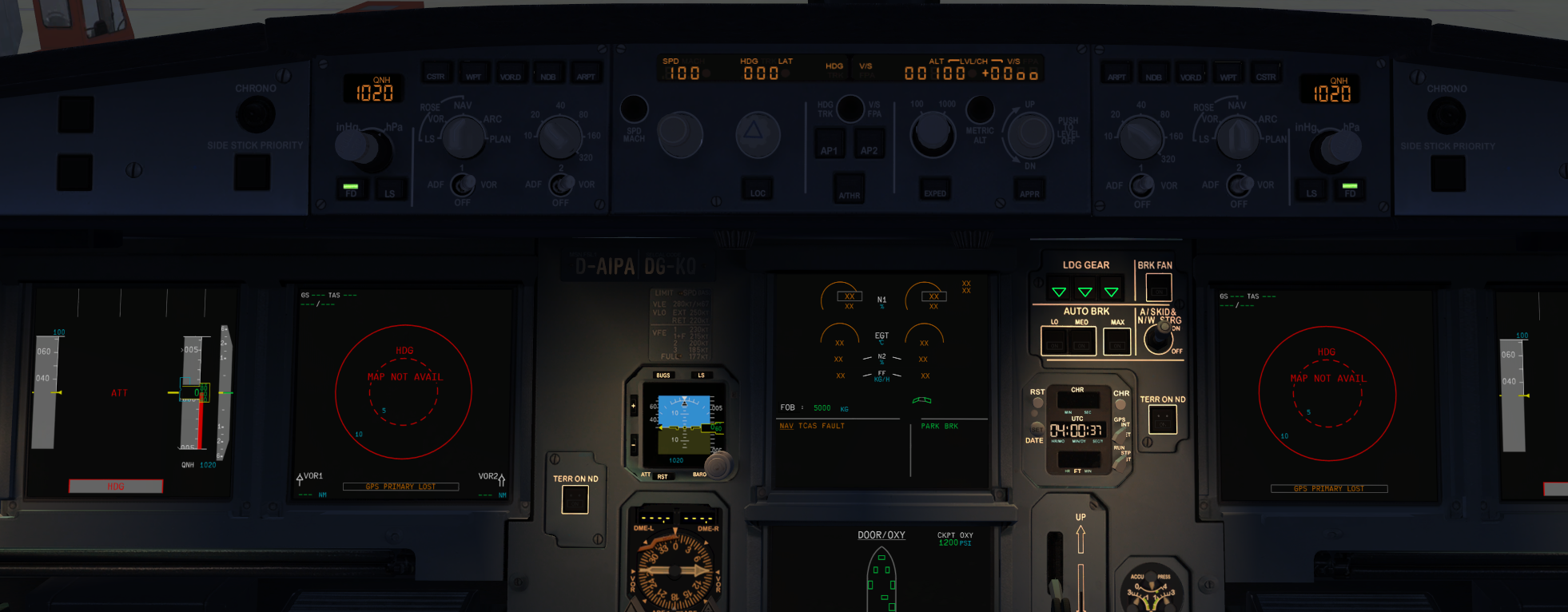 RESOLVED] FCU light not working - Archive - Flight Sim Labs Forums