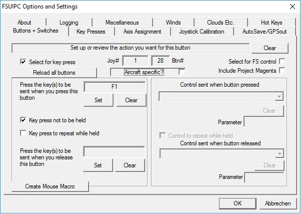 TM Warthog Throttle - Configuring Reverse Thrust in FSUIPC - Archive
