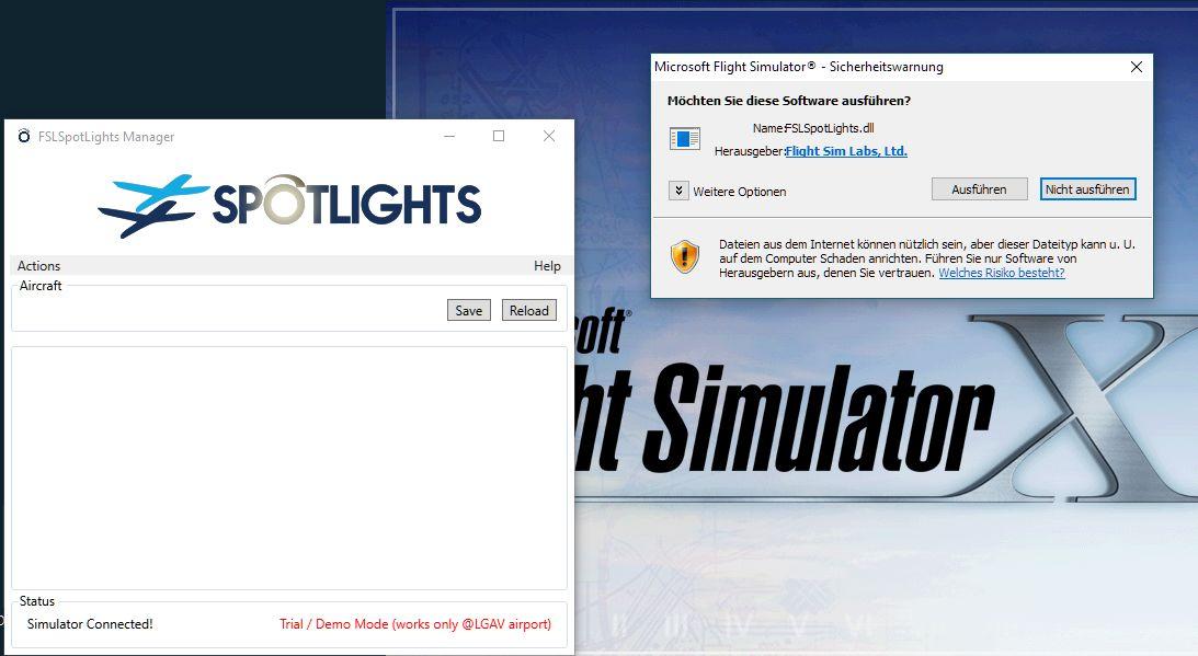 Simconnect failure - FSX won't start - FSL Spotlights