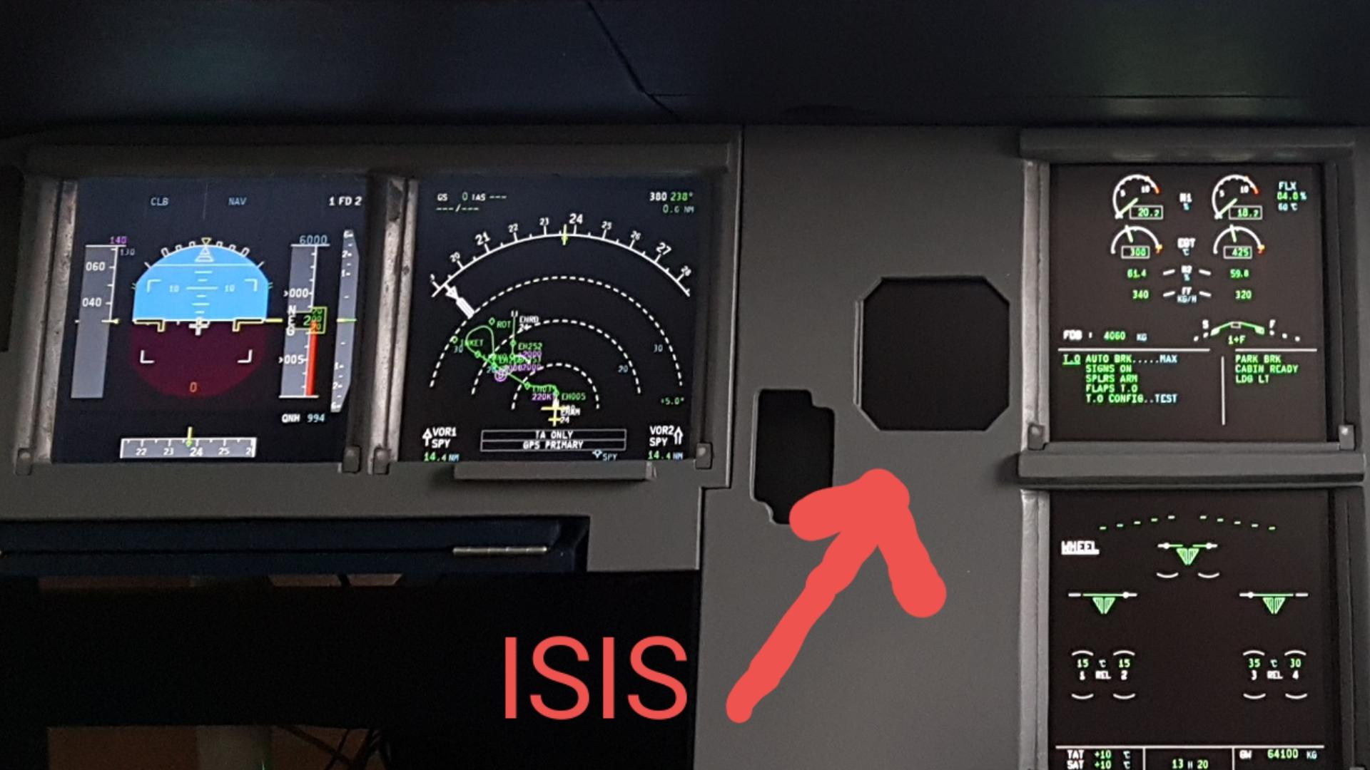 homecockpit] A320X Undocked ISIS display would be nice