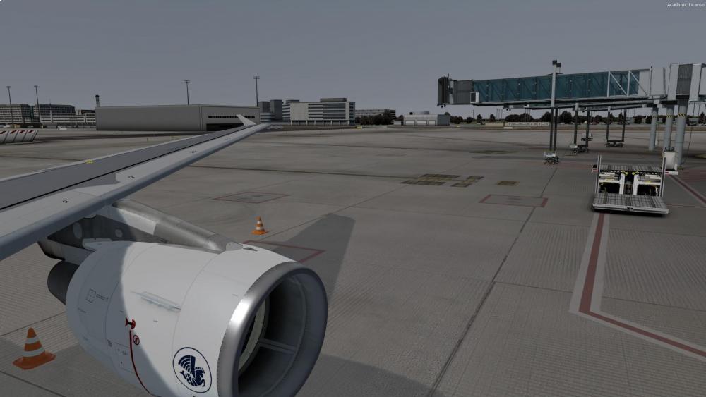Waiting for passenger boarding
